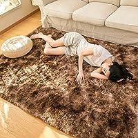 カーペット ラグマット シャギーラグ 北欧 おしゃれ 洗える 100×160cm 絨毯 多色絞り染め ふわふわ 気持ちいい 滑り止め 床保護マット 抗菌防臭 防音 寝室 リビング 雰囲気