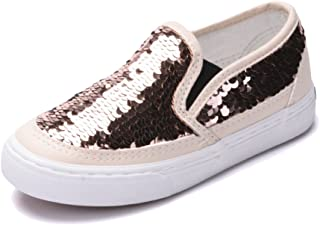 Girl's Cute Sequins Low Top Casual Loafers Princess Party Sneakers (Toddler/Little Kid/Big Kid)