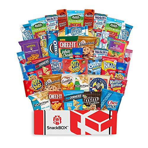 Care Package Snacks for College Students, Finals, Office, Christmas Gifts, Deployment, Military and Gift Ideas - Including Over 3 lbs of Chips, Cookies and Candy! (40 Count)