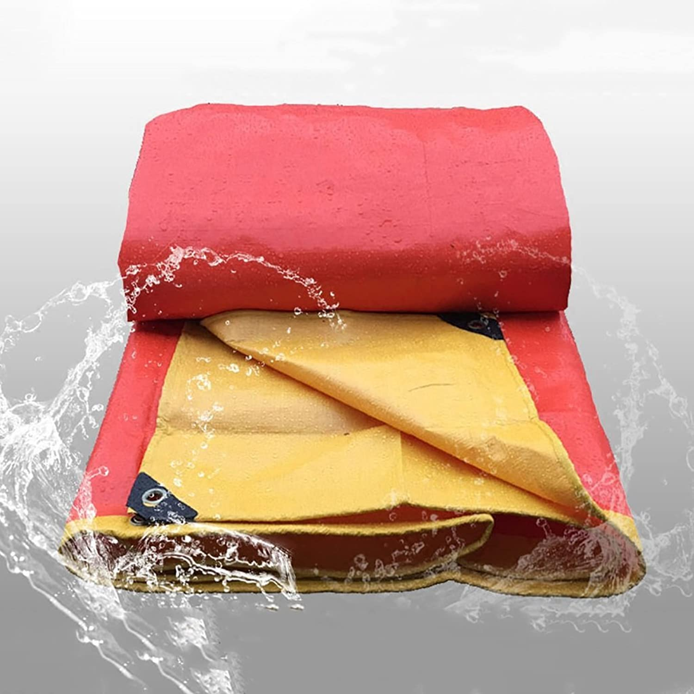 orange Tarpaulin polyethylene rain Cloth Waterproof Sunscreen Tarpaulin Sticky Steam Truck Tarpaulin Canvas, Thickness 0.4mm, 240 g m2, 20 Sizes to Choose from