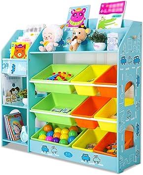 AYHa Estantería para almacenamiento de juguetes para niños ...