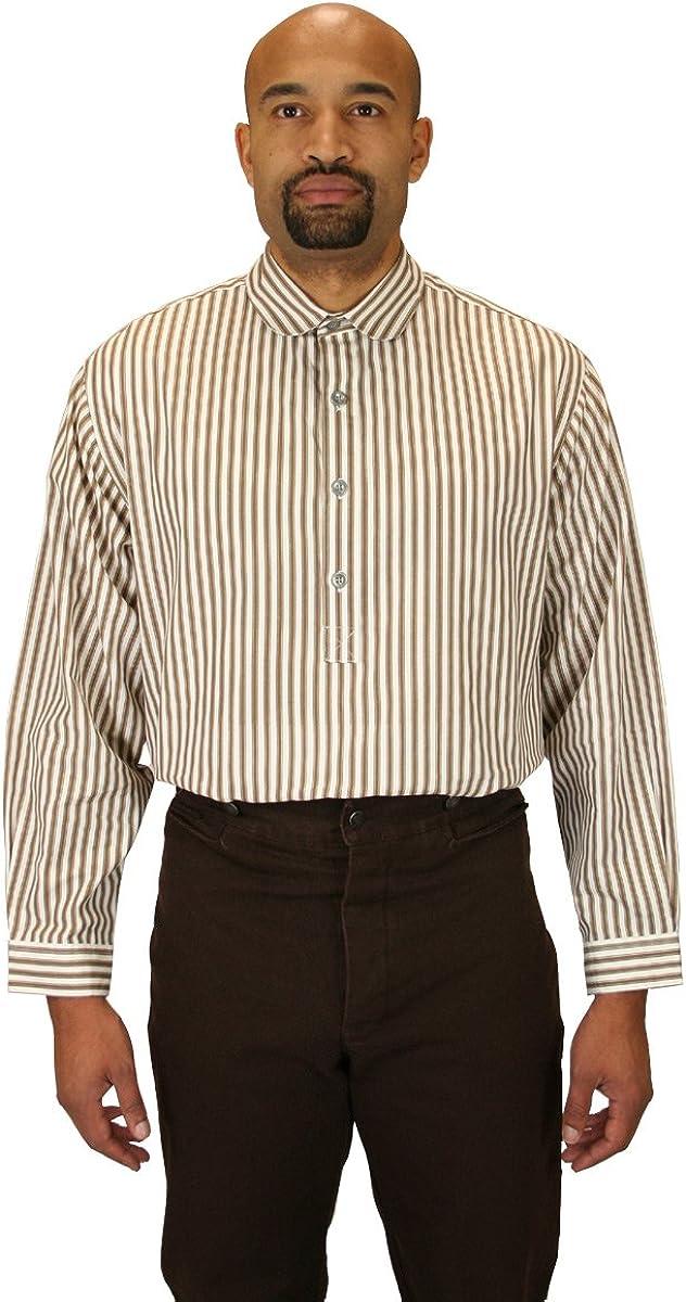 Historical Emporium Men's Edwardian Round Club Collar Dress Shirt