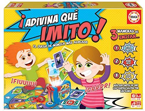 Educa - Adivina Que Imito Juego de Mesa Familiar de mímica, a Partir de 6 años, Color Variado (16987)
