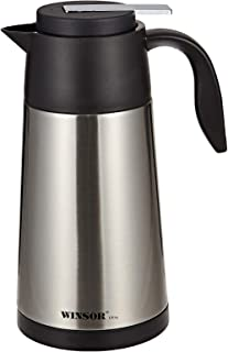 Winsor Vacuum Flask, Ultra, Black/Grey, H 15.8 x W 31.2 x D 15.0 cm, 1.3 liter, Stainless Steel
