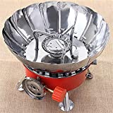 Mitravadan Chhotu Outdoor Stainless Steel and Iron Lightweight and Portable Windproof Gas Stove (Red)
