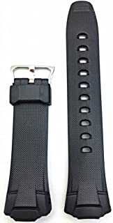 17mm G Shock Style, Rubber Polyurethane (PU) Material Black Bracelet Watch Band | Comfortable, Tough, Durable Replacement Wrist Strap That Brings New Life to Any Watch (for Men and Women)