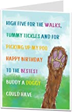 Birthday Card From The Dog For The Owner Lover Quirky Pet Theme Perfect For Men Women Mum Dad & Husband Wife Quirky Funny Design