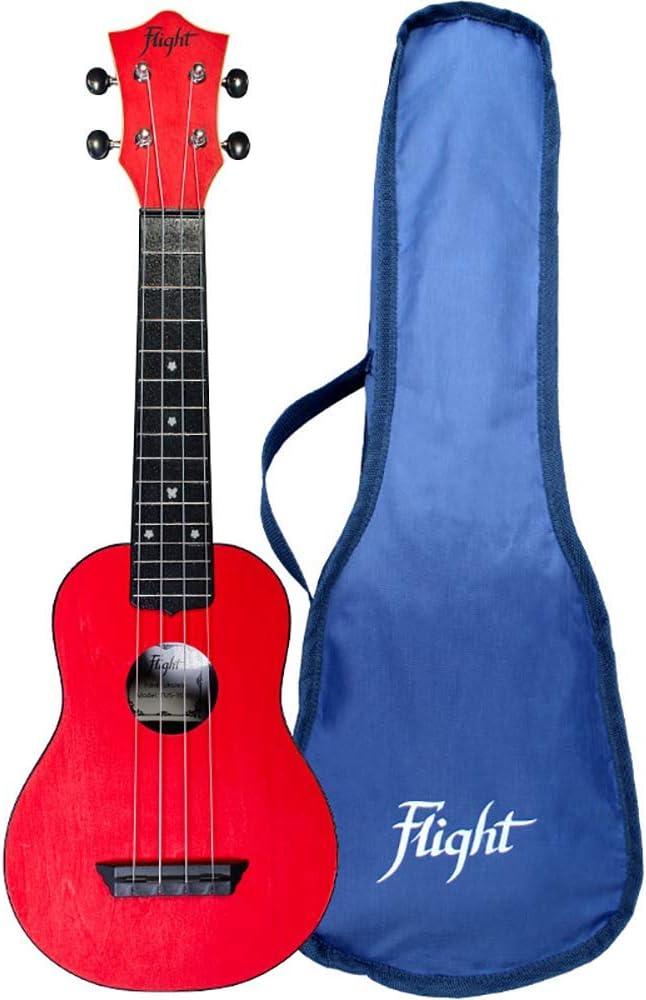 Flight 4-String Travel Series Soprano Ukulele TUS-35RD Red