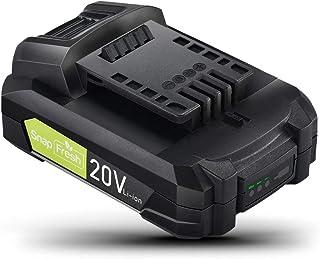 SnapFresh バッテリー 20V 純正 専用バッテリー 交換用バッテリー 互換バッテリー SnapFresh20V電動工具専用 BBT-POB04・BBT-YOR01・BBT-JOL01対応 2.0Ah 大容量 3段階LED残量表示付き ...