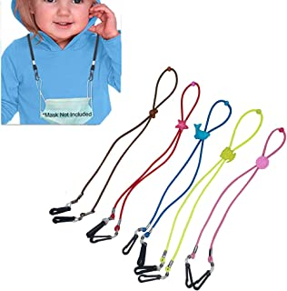 AnnabelZ Face Mask Lanyard Face Cover Holder Adjustable Strap Handy Safety Hanger Rope for Kids Students Adult Around The ...