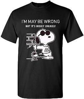 私は間違っているかもしれませんそれは非常にありそうもないスヌーピーおかしいTシャツ