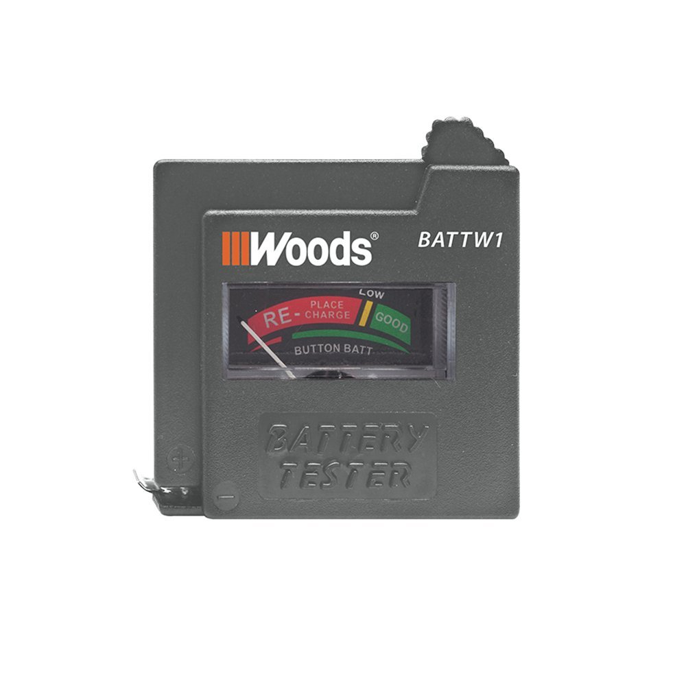 Woods BATTW1 Very popular Battery Tester Regular discount - Tests 9V AAA AA 1.5V and C D