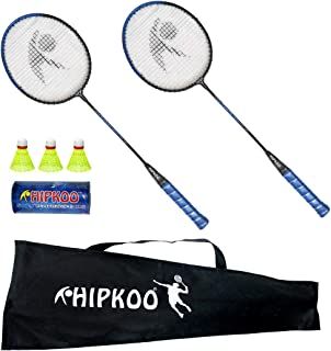 Hipkoo Sports HXBRSET_BL Grab Badminton Set with 3 Shuttlecocks Badminton Kit (Blue)