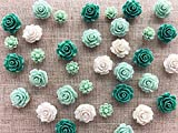 24Pcs Decorative Push pins,Cork Board Tacks,Bulletin Board Tacks,Thumb Tack Decorative for CorkBoard, Office Organization or Home (Green)