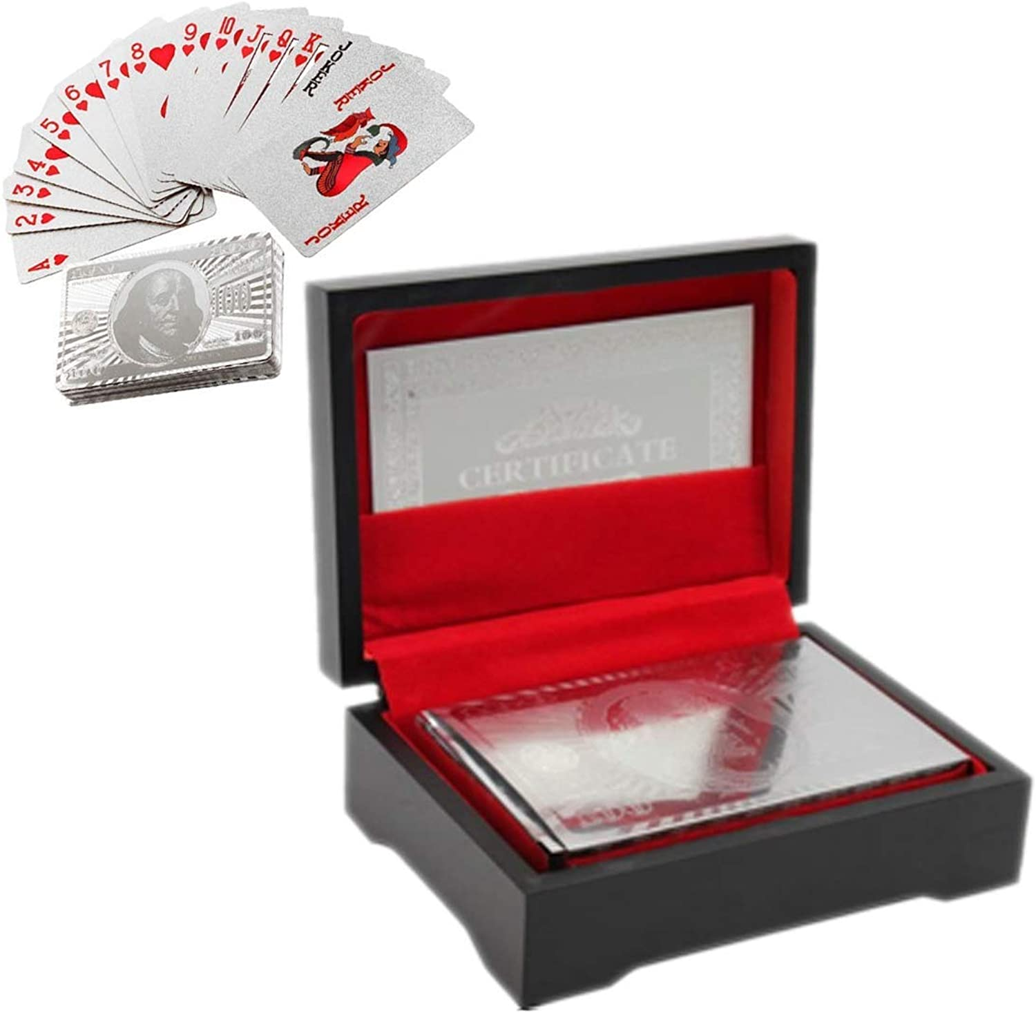 Free Ship Deal White gold Plated Playing Cards