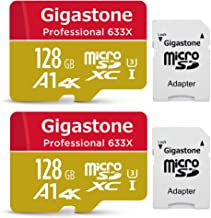 Gigastone 128GB 2-Pack Micro SD Card, Professional 4K Ultra HD, High Speed 4K UHD Gaming, Micro SDXC UHS-I U3 C10 Class 10 Memory Card with Adapter