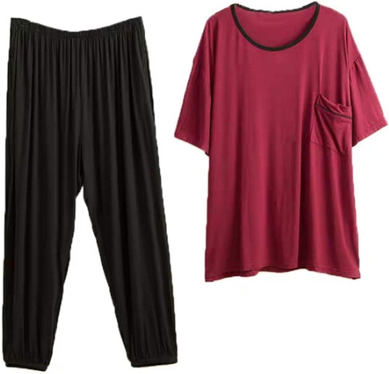 Men'S Pajama Set Long Sleeve Sleepwear For Men Red 6Xl