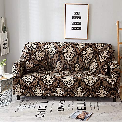 PPOS Nuevas Fundas de sofá elásticas universales para Sala de Estar, Muebles elásticos, Fundas de sillón, Funda seccional para sofá, A10, 1 Asiento, 90-140 cm-1 Pieza