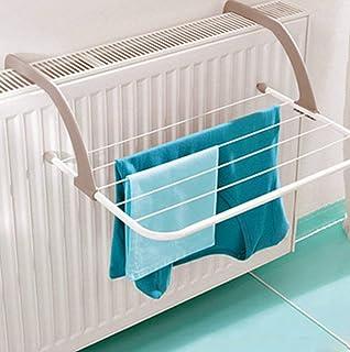 Séchoir pour radiateur avec 5 bras réglables, température maxi 70 °C, 2. Grey w/ White Bars (Small)