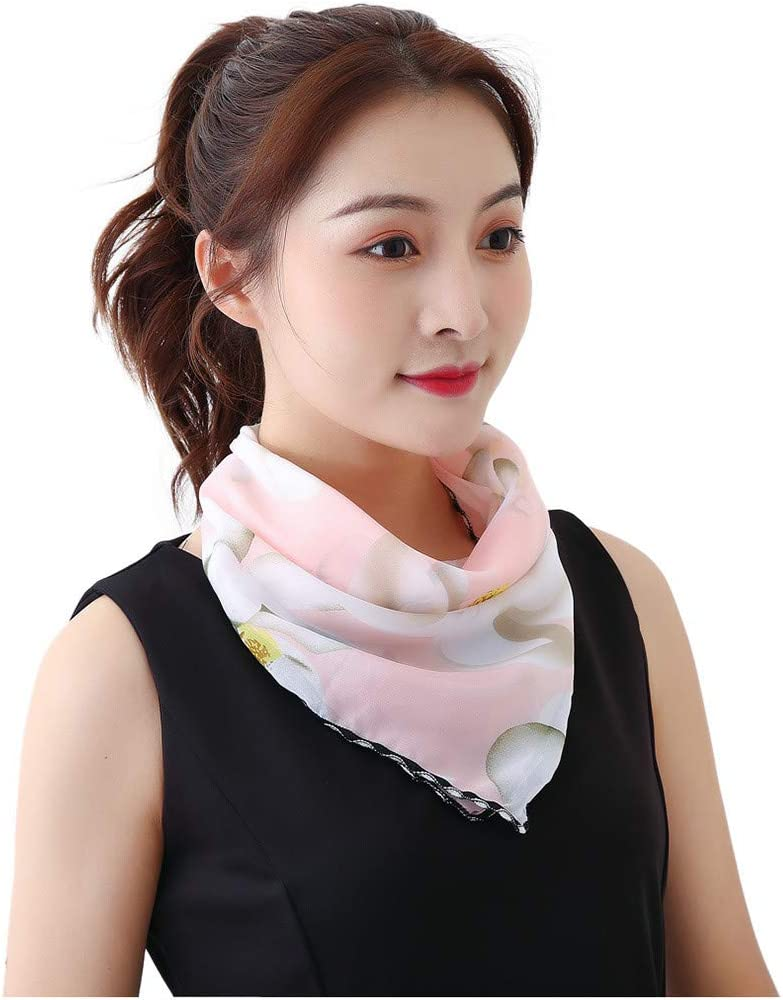 Face Scarfs for Women, Zyqzw Multifunctional Scarf Shawl Floral Print Pattern Bandanas Fashion Scarves Sunscreen Shawls Neckerchief(E)