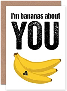 Wee Blue Coo Valentine Bananas About You. Love Art Gift Sealed Greeting Card Plus Envelope Blank Inside