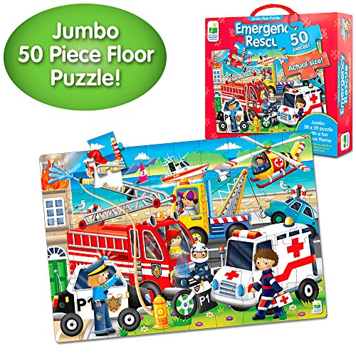 The Learning Journey: Jumbo Floor Puzzles - Emergency Rescue - Extra Large Puzzle Measures 3 ft by 2 ft - Preschool Toys & Gifts for Boys & Girls Ages 3 and Up