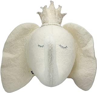 Ebros Fiona Walker England Handmade Organic Baby Animal Head Wall Decor The Originals Collection Large (Elephant Princess)