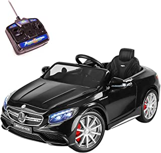 Playkin MERCEDES-BENZ S63 - Coche electrico niños bateria 12V con mando control +3 años juguetes infantiles coches de bateria