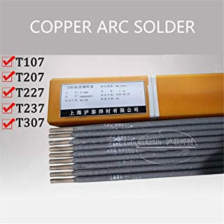 T107 Copper Electrode T227 Phosphorus Copper T207 Brass T237 Aluminum Bronze Arc Welding Rod 10Pcs Refrigerator Copper Tube 4.0mm 10pcs T307