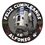OBLEA de Papel de azúcar Personalizada, 19 cm, diseño de Star Wars R2-D2