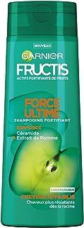 Garnier Fructis Force Ultime - Shampoo fortificante per capelli fragili, 250ml,set da 4