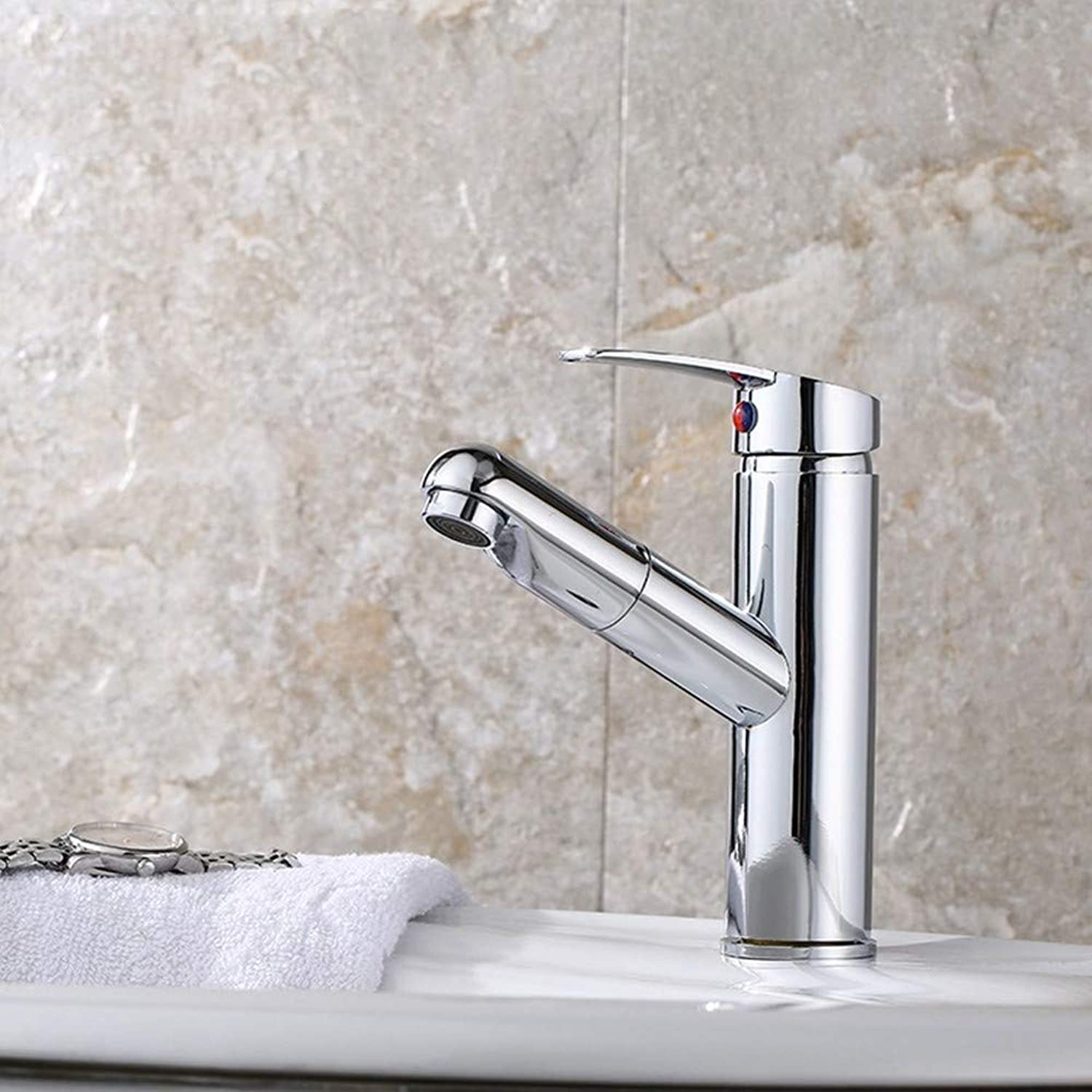 Water Tap Black Bronze Paint Bathroom Washbasin Washbasin Household Faucet Hot and Cold Expansion Basin Faucet, B