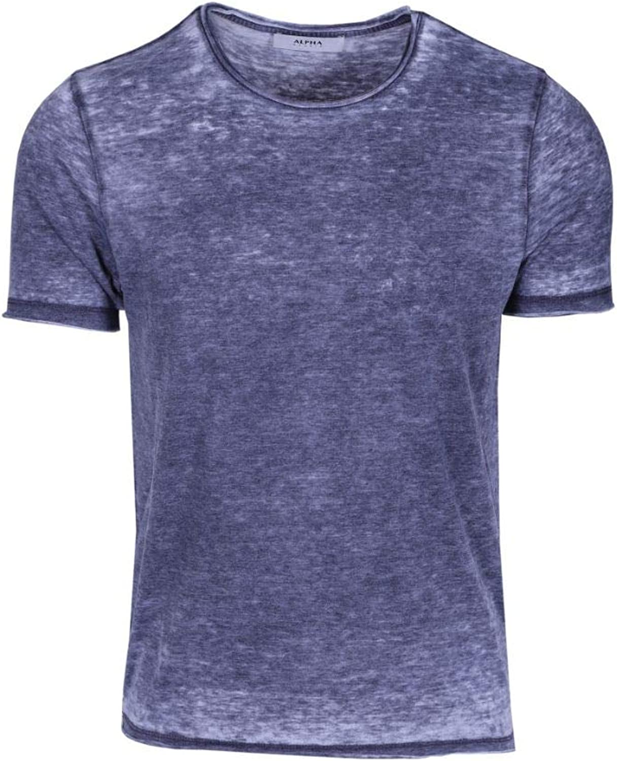 ALPHA STUDIO Men's AU9470CS6171 blueee Cotton TShirt