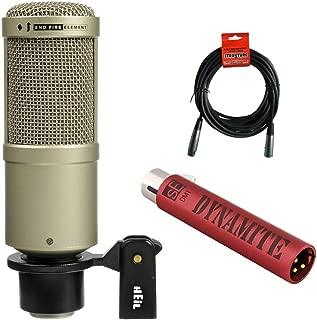 Heil Sound PR 40 Dynamic Cardioid Studio Microphone (Champagne) with sE Electronics DM1 Dynamite Mic Preamp & 20' XLR Cable Bundle
