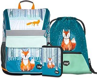 Mochila escolar para niños y niñas, set de 3 piezas, mochila escolar Zippy a partir de 1ª clase, mochila escolar ergonómica con correa para el pecho.