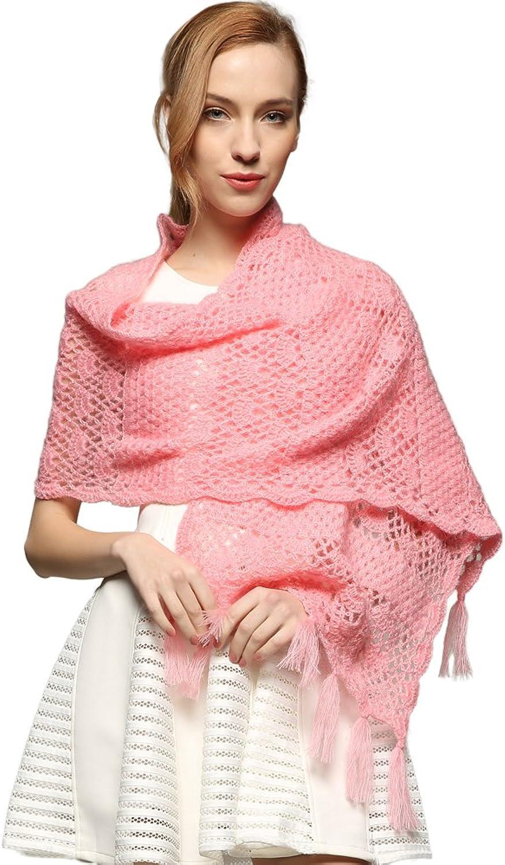 ZORJAR 100% Handmade PURE Wool (Mohair) Crochet Knit Winter Scarf Neck Warmer Wrap