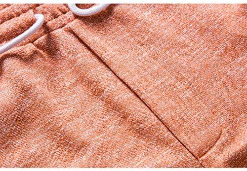 Manwan walk Men's Casual Classic Fit Cotton Elastic Jogger Gym Drawstring Knit Shorts