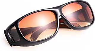 HD Night Vision Wraparounds Wrap Around Glasses Glare UV Protection