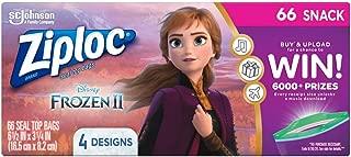 Ziploc Brand Snack Bags, Disney's Frozen 2, 66 ct