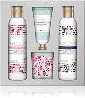 Baylis & Harding Fuzzy Duck Cotswold Floral Candle Set, Wild Flower Meadow and Woodland Bluebell