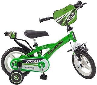 Pik & Roll Kawasaki - Bicicleta Mixta Infantil, Verde, 12 Pulgadas ...