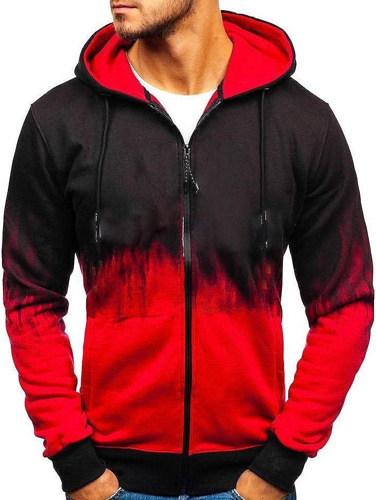 XUETON Mens Winter Autumn Warm Hooded Jacket Button Down Long Sleeve Patchwork Sweatshirt Coat Fashion Casual Coats