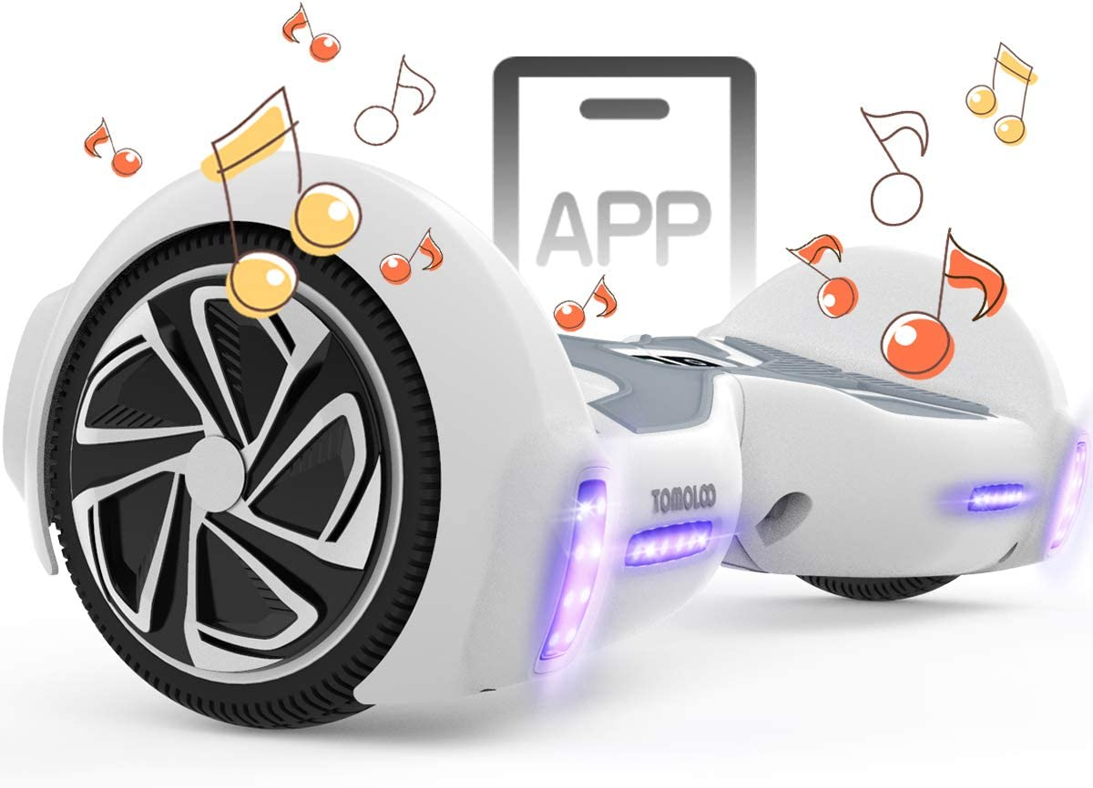 TOMOLOO Hoverboard with Bluetooth and Smart Lights Hover APP Bo Max Ranking TOP11 74% OFF