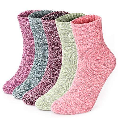 FEMMES EN COTON AVEC LYCRA Chaussettes Hautes Genoux//UK 4-6 /½ EU 37-40 6 Paires Filles