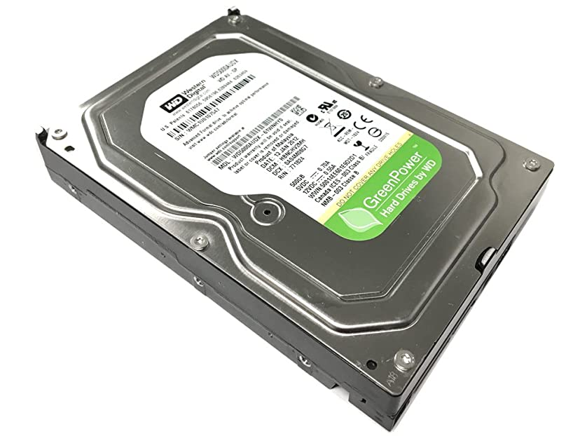 Western Digital AV-GP WD5000AUDX 500GB IntelliPower 32MB Cache SATA III 6.0Gb/s 3.5in Internal Surveillance Hard Drive (CCTV DVR, PC, Mac) [Renewed]- w/ 1 Year Warranty