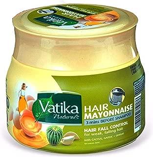 Dabur Vatika Naturals Hair Mayonnaise Treatment 3 Mins Before Shampoo, 500 ml Provides Nourishment Essential Oils & Conditioning Egg Proteins Moisturizing Smoothing Hair Loss (Hair Fall Control)