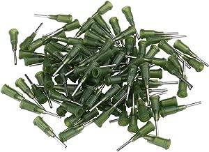 Lost ocean 100pcs Green Color Metal Blunt Tip Dispensing Needle (14G)