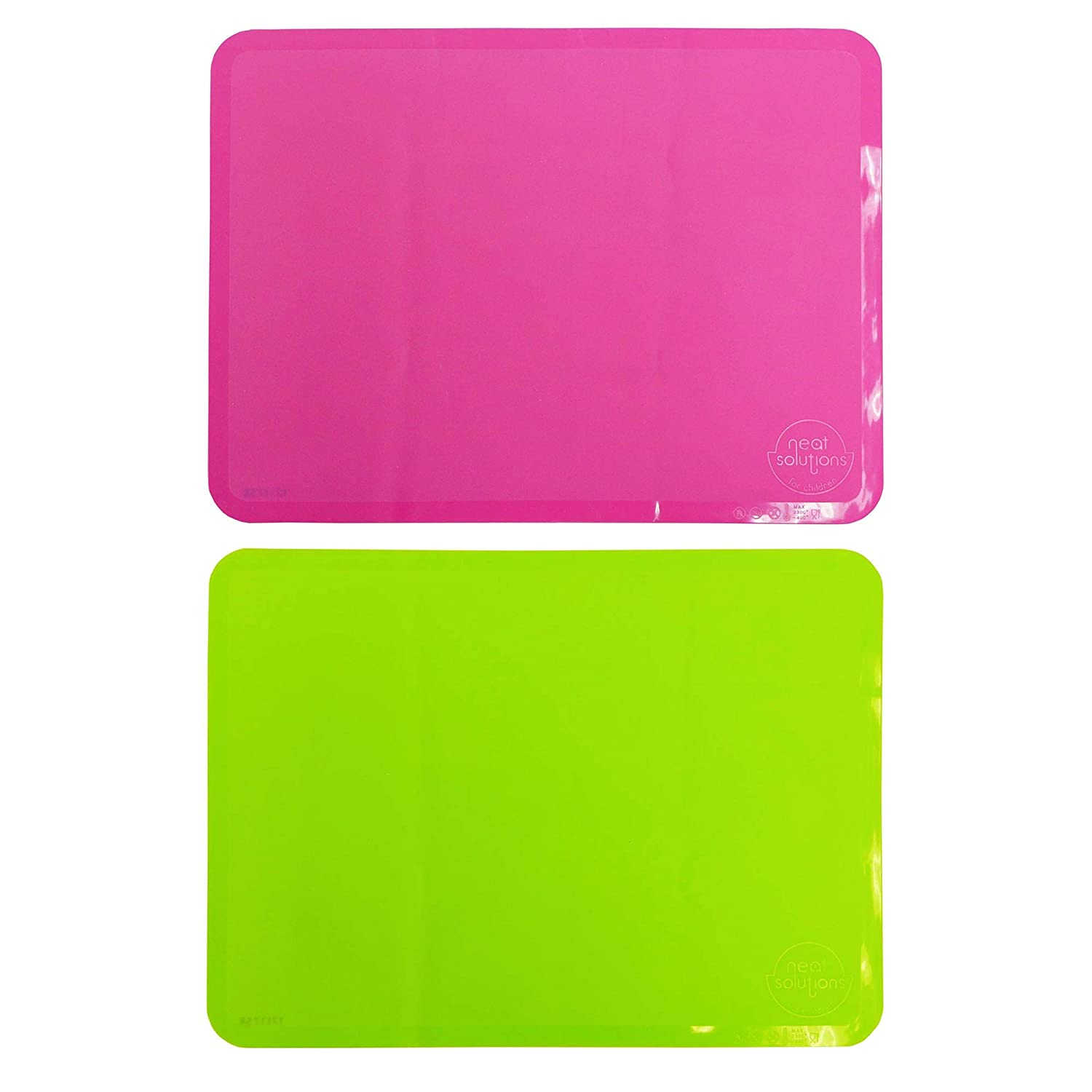 Neat Solutions Sili-Stick Reusable Table Topper 2 Pack, Pink/Green