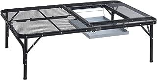 山善 キャンパーズコレクション BBQタフライトテーブル(幅122奥行81) TLT-1280B(MBK)