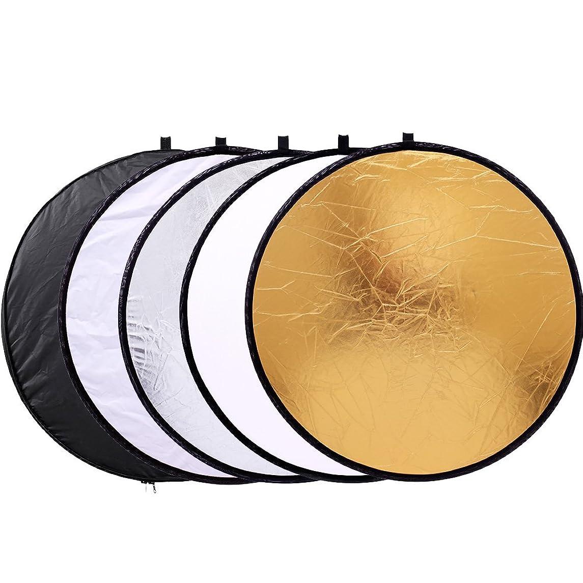 反射器面板12英寸 / 30?cm 5合1可折叠 multi-disc 浅反射器 with BAG?–?半透明金色银色黑色和白色